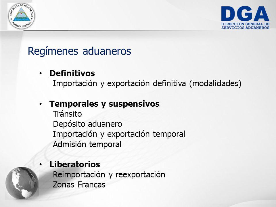 Regímenes aduaneros Definitivos