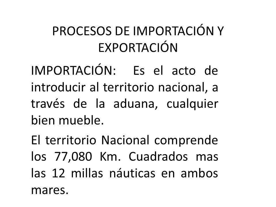 PROCESOS DE IMPORTACIÓN Y EXPORTACIÓN