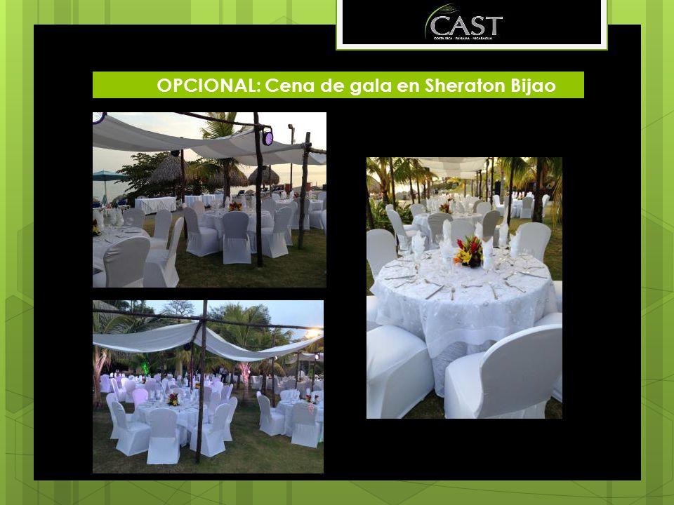 OPCIONAL: Cena de gala en Sheraton Bijao
