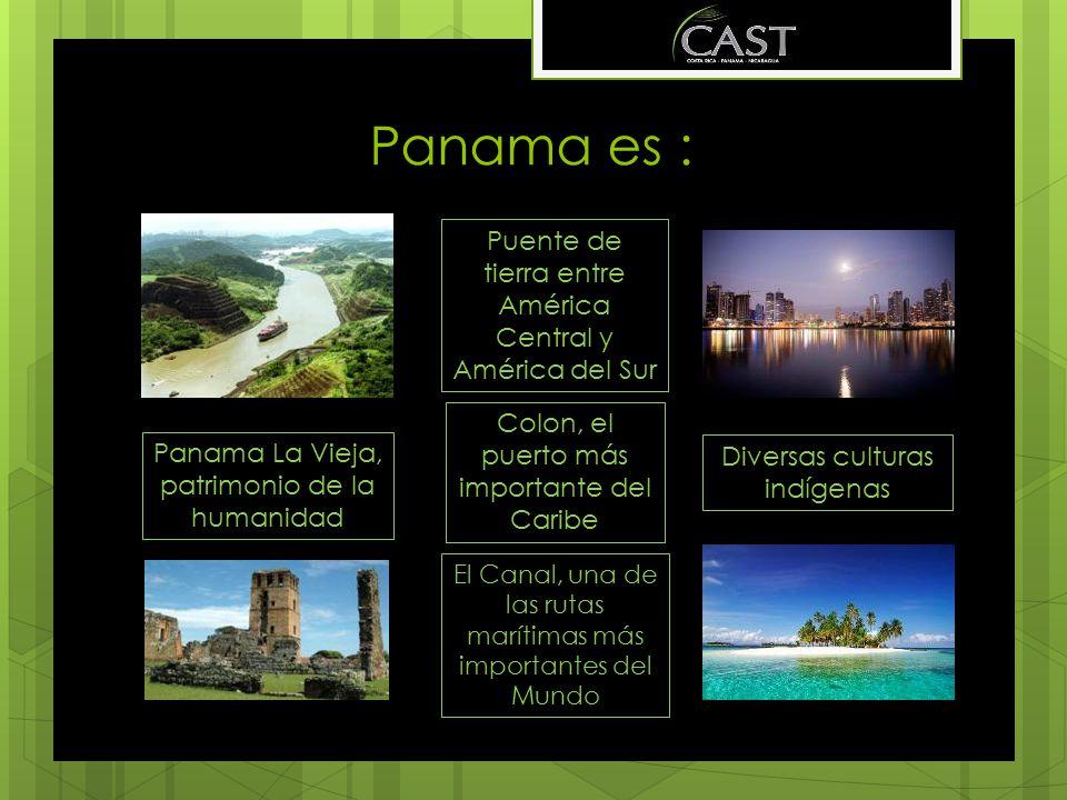 Panama es : Puente de tierra entre América Central y América del Sur