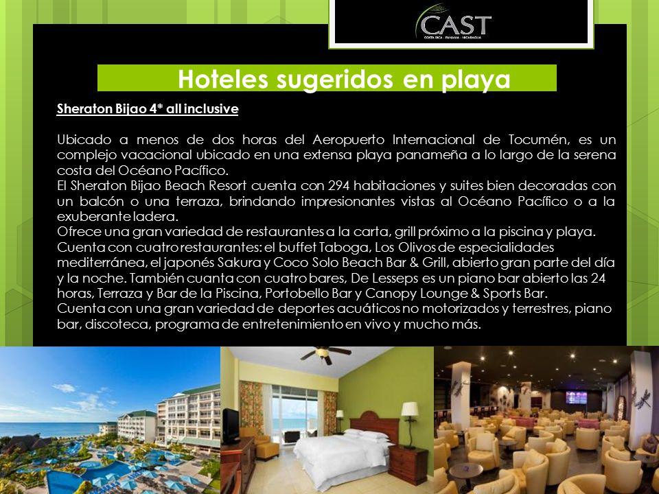 Hoteles sugeridos en playa