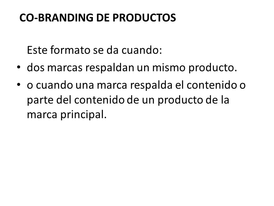 CO-BRANDING DE PRODUCTOS