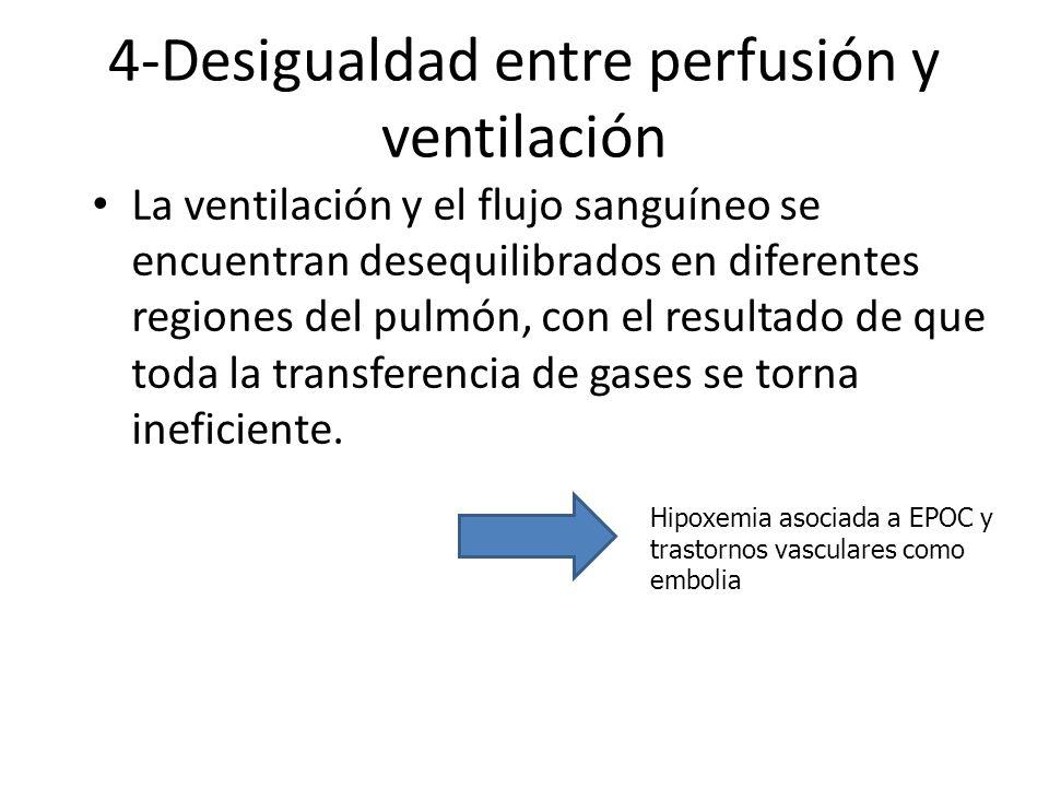 4-Desigualdad entre perfusión y ventilación
