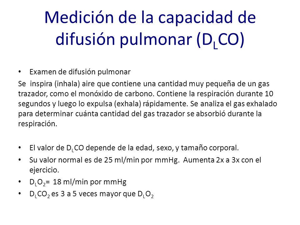 Medición de la capacidad de difusión pulmonar (DLCO)