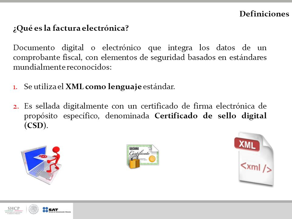 Definiciones ¿Qué es la factura electrónica