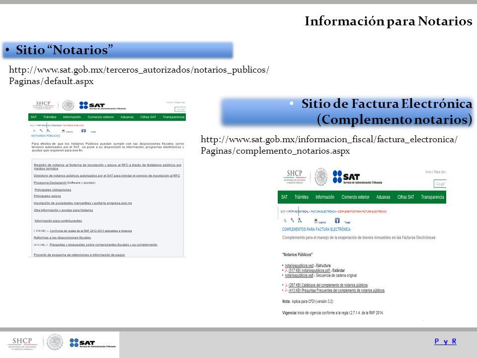 Información para Notarios