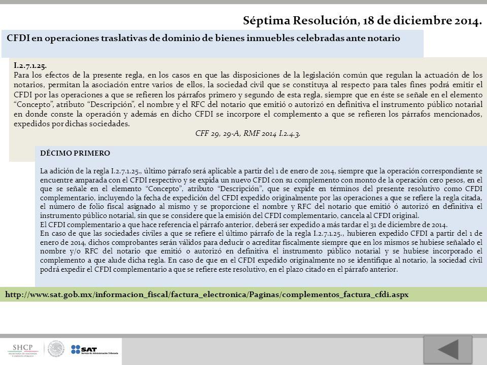 Séptima Resolución, 18 de diciembre 2014.