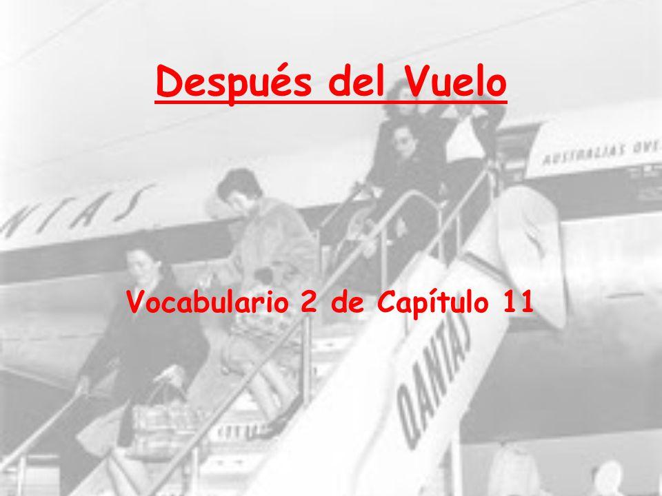 Vocabulario 2 de Capítulo 11