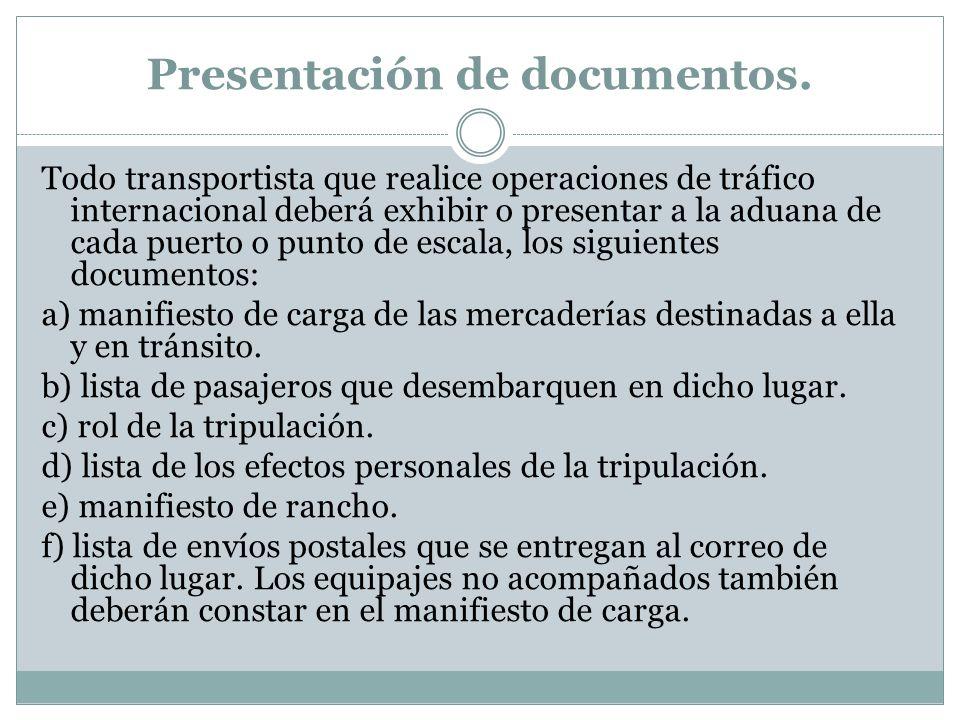 Presentación de documentos.