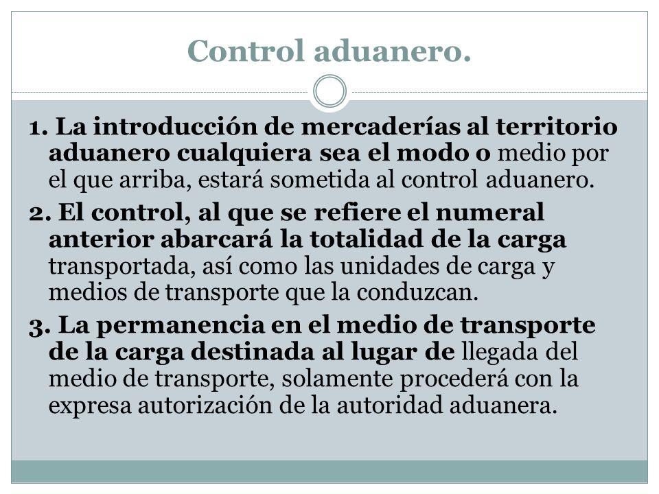 Control aduanero.