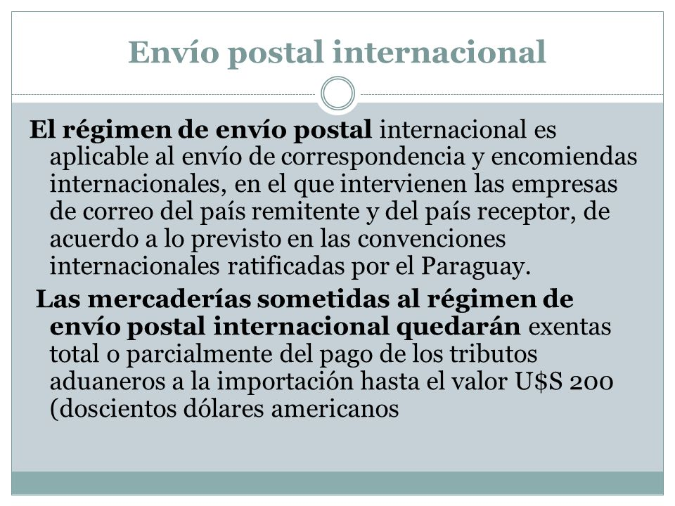 Envío postal internacional