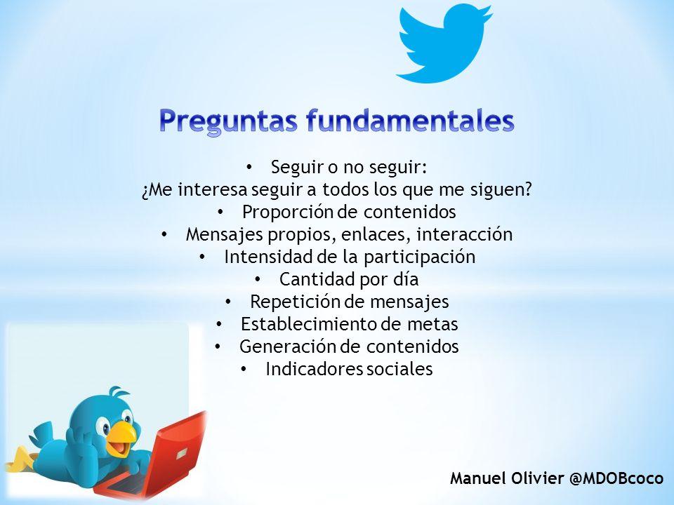 Preguntas fundamentales Manuel Olivier @MDOBcoco
