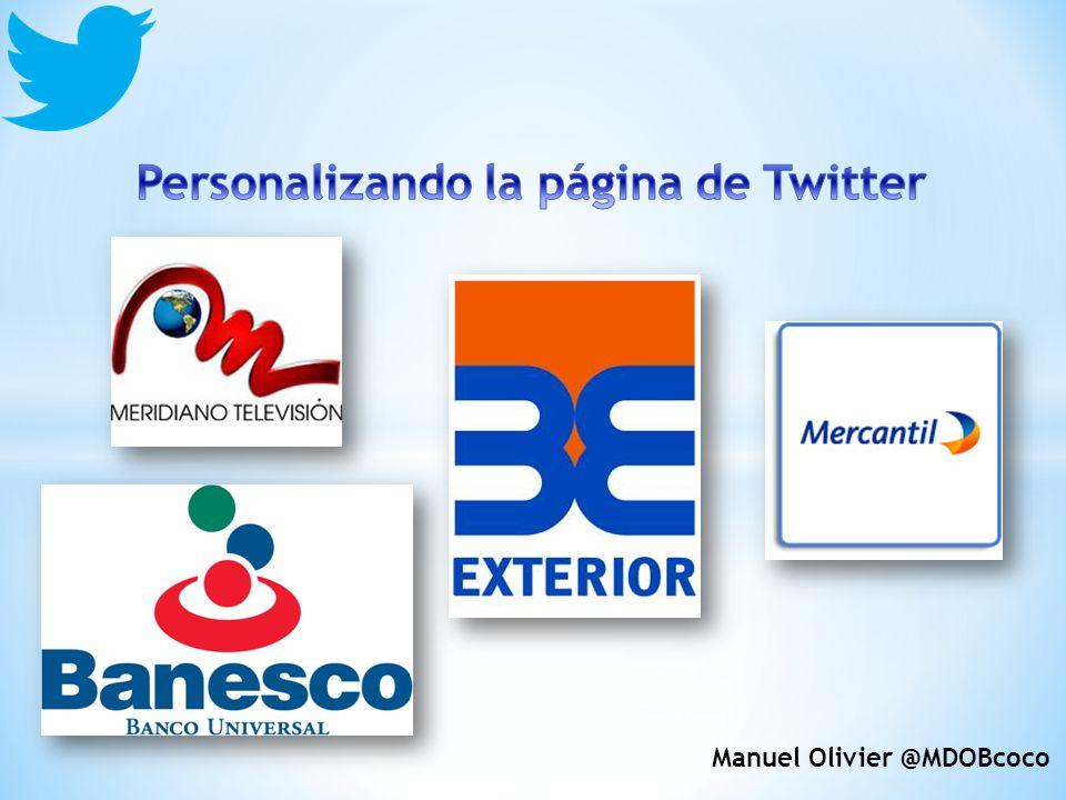 Personalizando la página de Twitter Manuel Olivier @MDOBcoco
