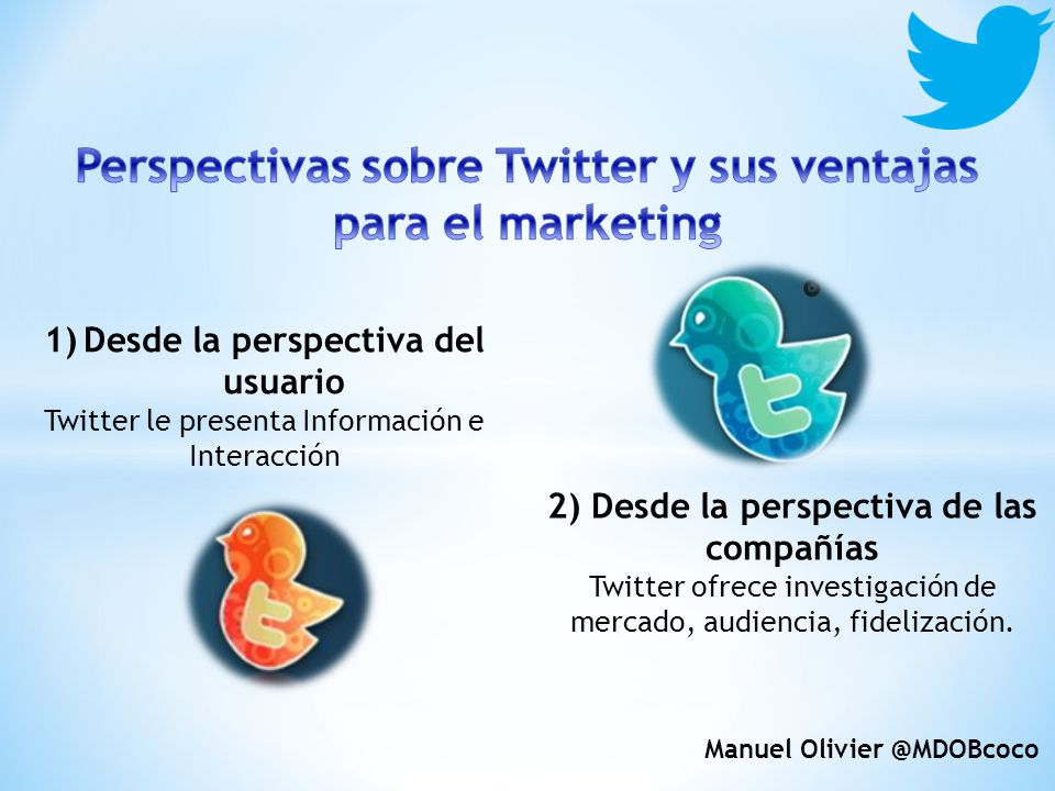 Perspectivas sobre Twitter y sus ventajas para el marketing