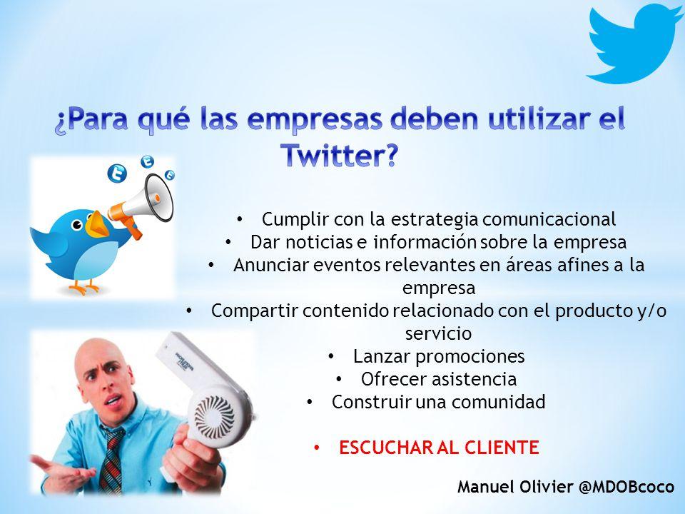 ¿Para qué las empresas deben utilizar el Twitter