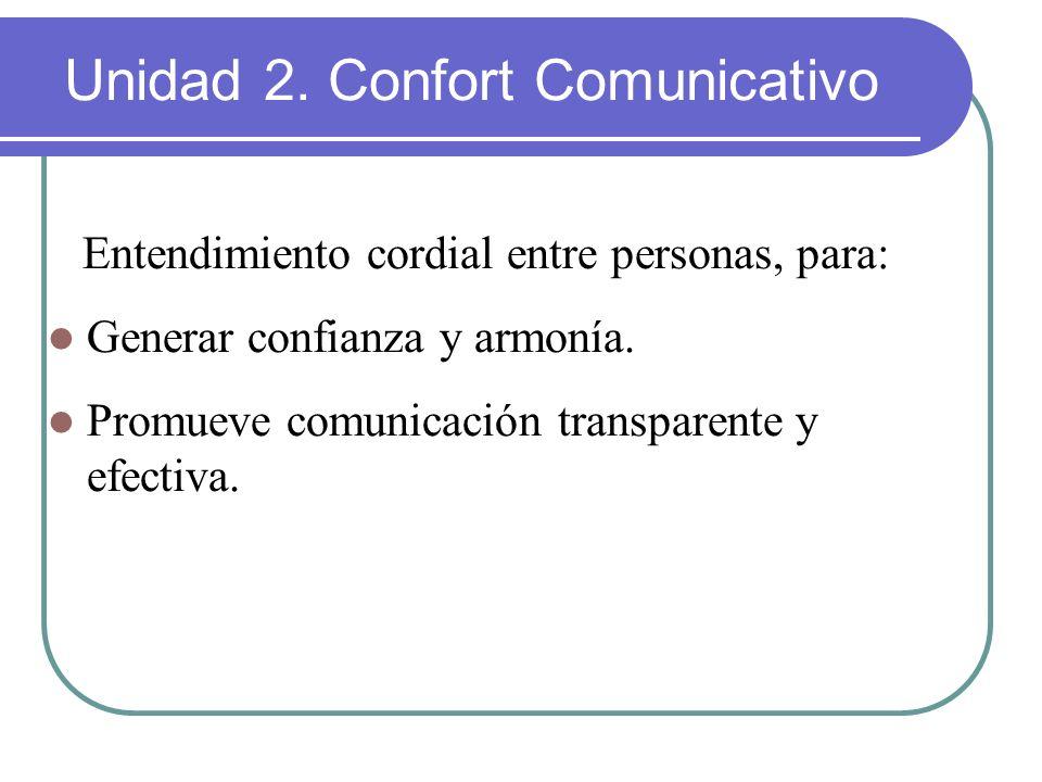 Unidad 2. Confort Comunicativo