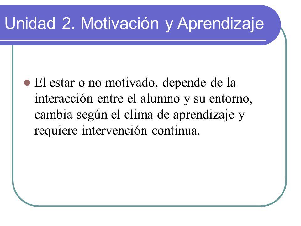 Unidad 2. Motivación y Aprendizaje