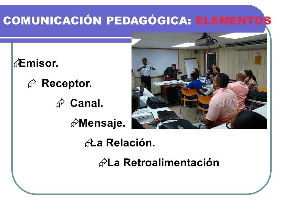 COMUNICACIÓN PEDAGÓGICA: ELEMENTOS