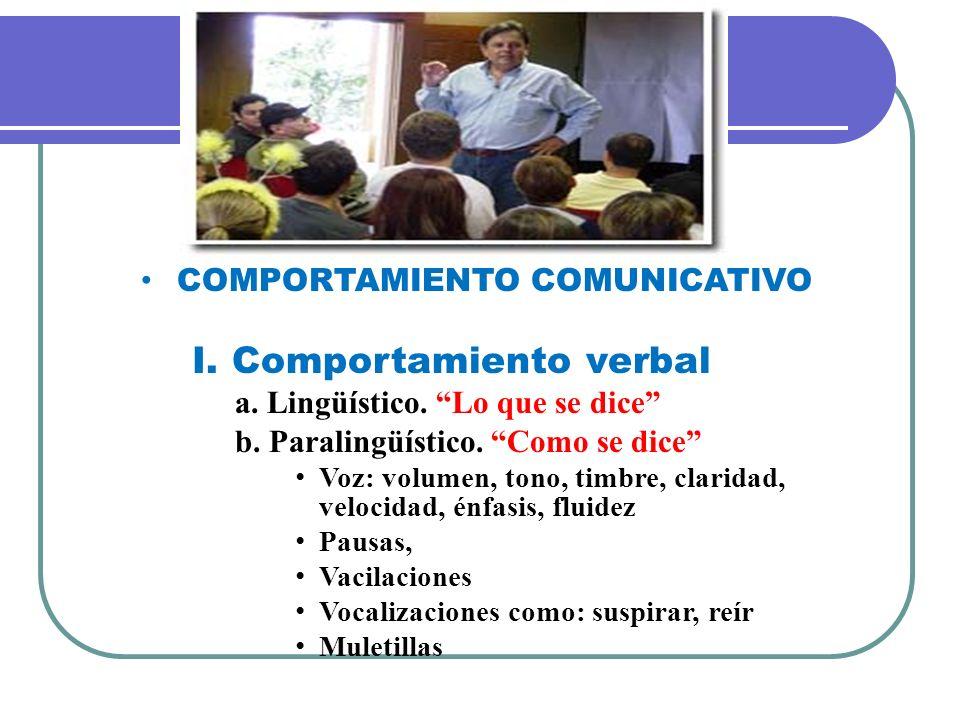 COMPORTAMIENTO COMUNICATIVO