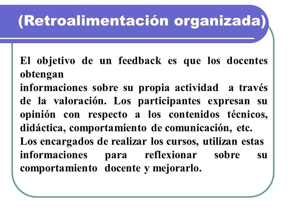 (Retroalimentación organizada)