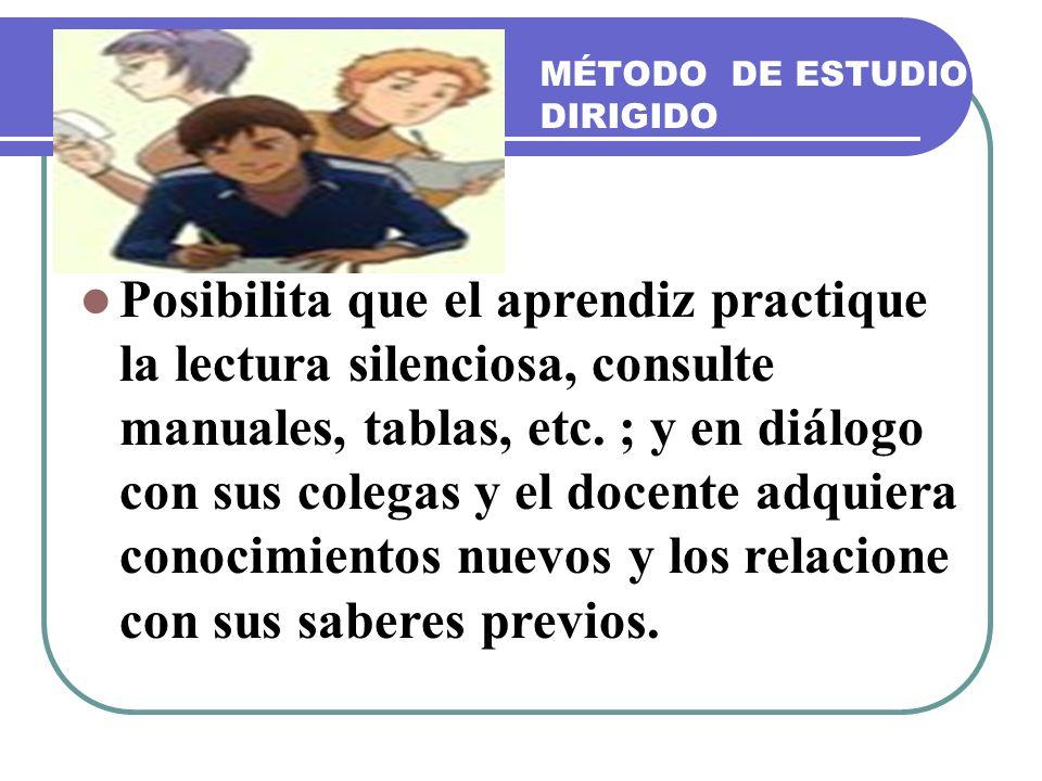 MÉTODO DE ESTUDIO DIRIGIDO