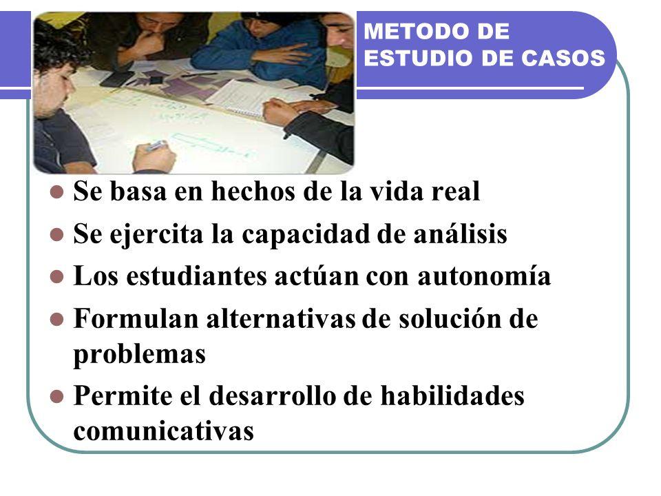 METODO DE ESTUDIO DE CASOS