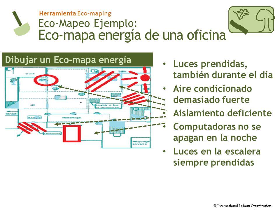 Eco-mapa energía de una oficina