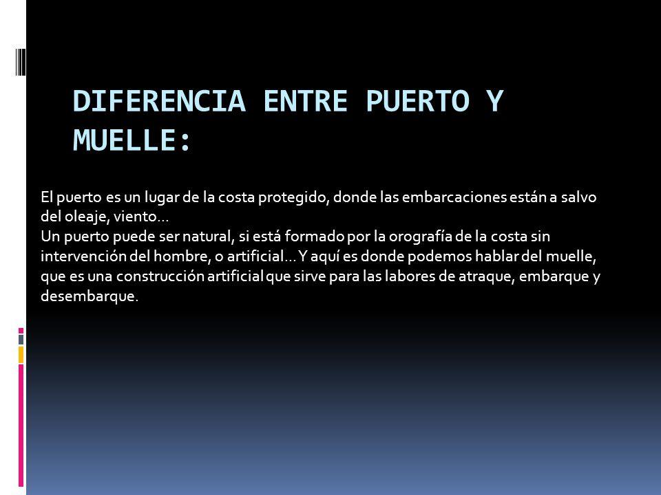 DIFERENCIA ENTRE PUERTO Y MUELLE: