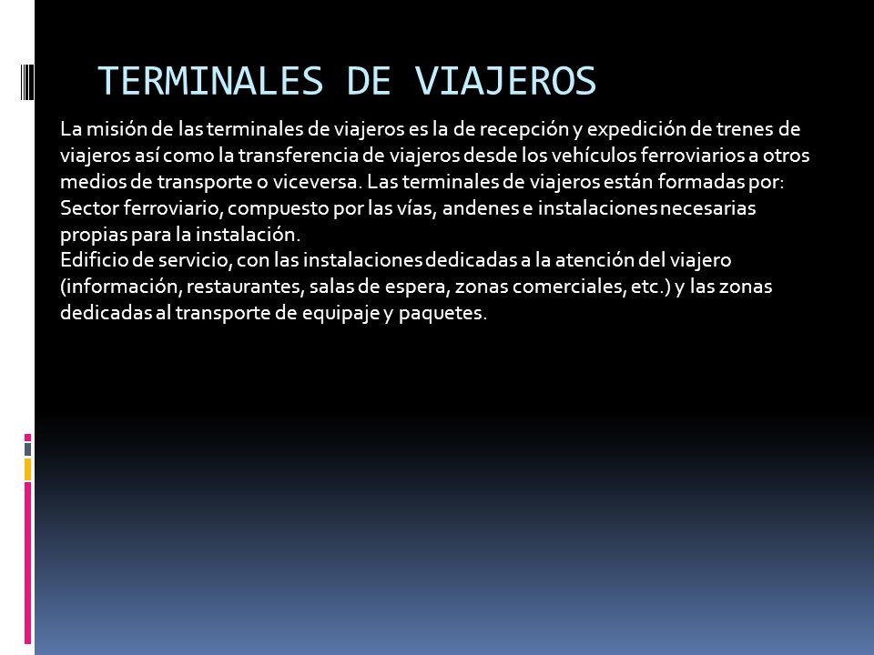 TERMINALES DE VIAJEROS