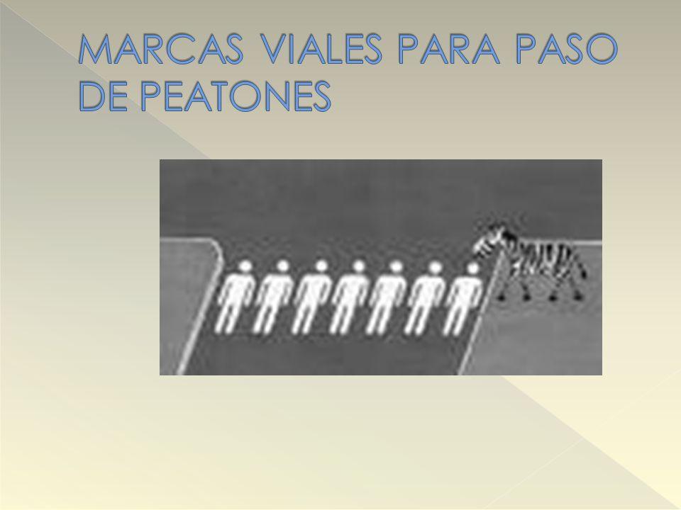 MARCAS VIALES PARA PASO DE PEATONES