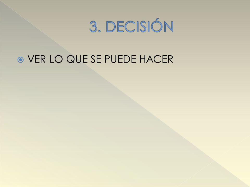 3. DECISIÓN VER LO QUE SE PUEDE HACER