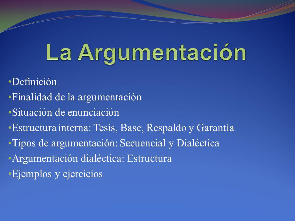 La Argumentación Definición Finalidad de la argumentación