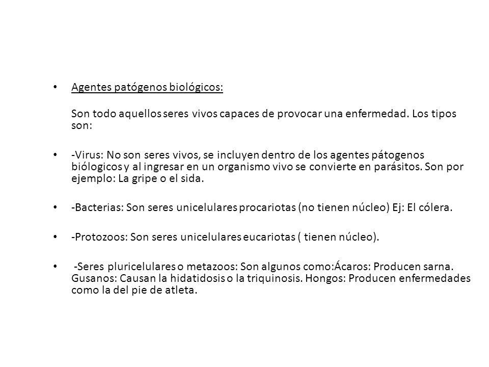 Agentes patógenos biológicos: