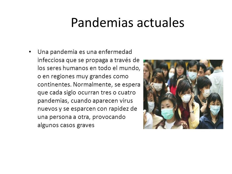 Pandemias actuales