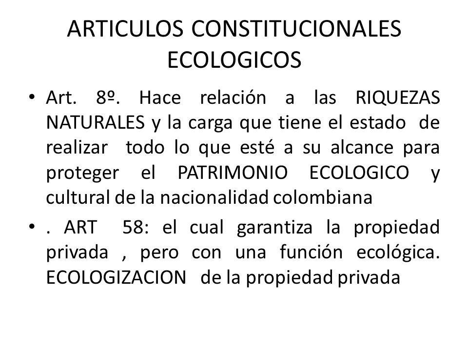 ARTICULOS CONSTITUCIONALES ECOLOGICOS