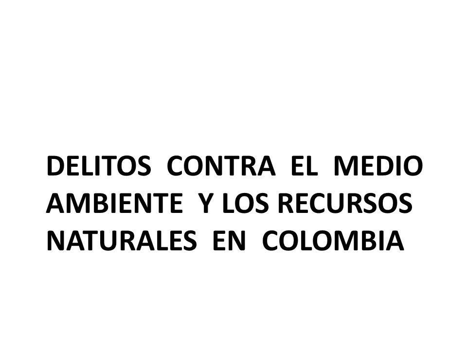 DELITOS CONTRA EL MEDIO AMBIENTE Y LOS RECURSOS NATURALES EN COLOMBIA
