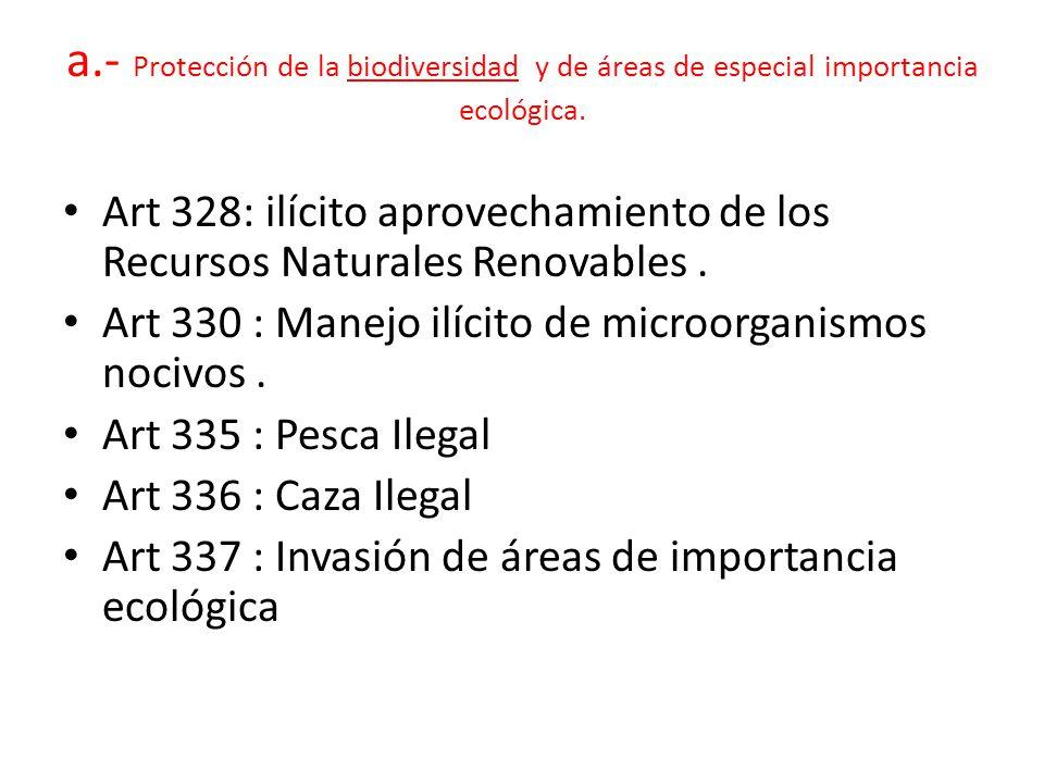 a.- Protección de la biodiversidad y de áreas de especial importancia ecológica.
