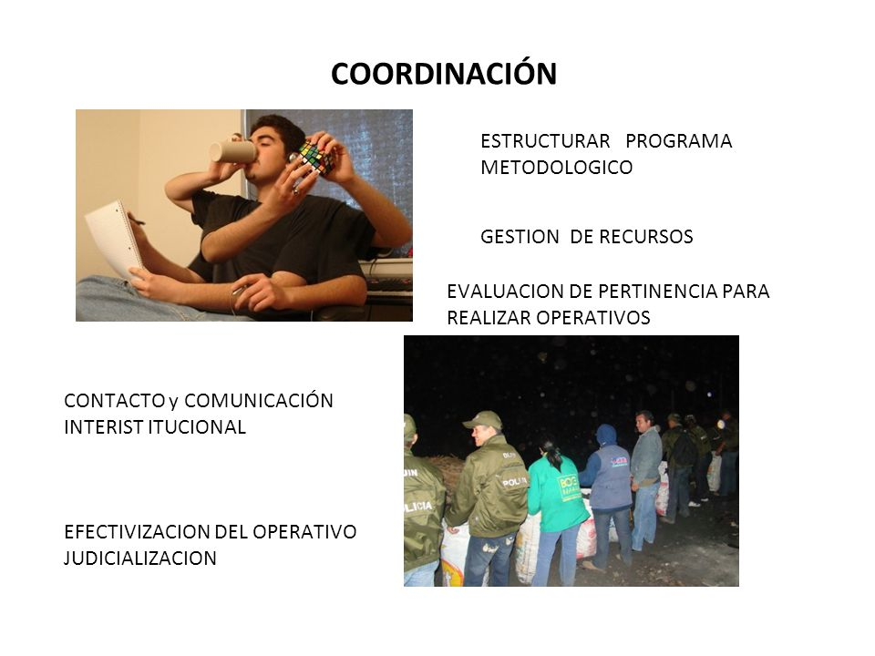 COORDINACIÓN ESTRUCTURAR PROGRAMA METODOLOGICO GESTION DE RECURSOS
