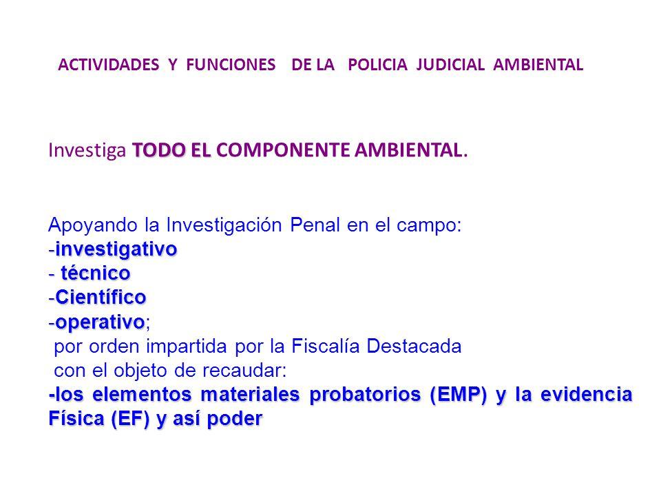 Investiga TODO EL COMPONENTE AMBIENTAL.