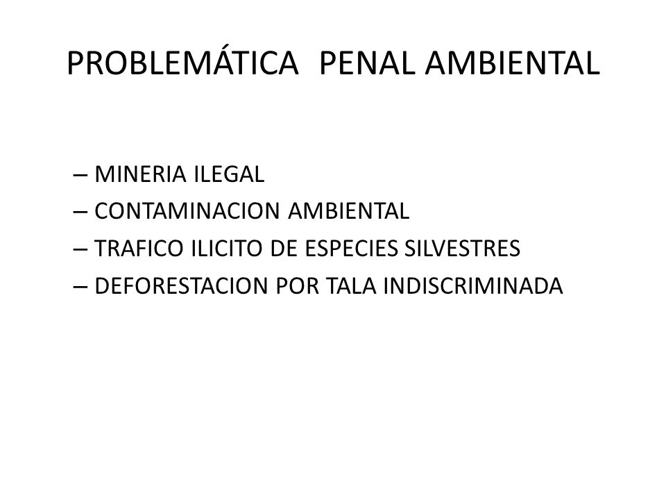 PROBLEMÁTICA PENAL AMBIENTAL
