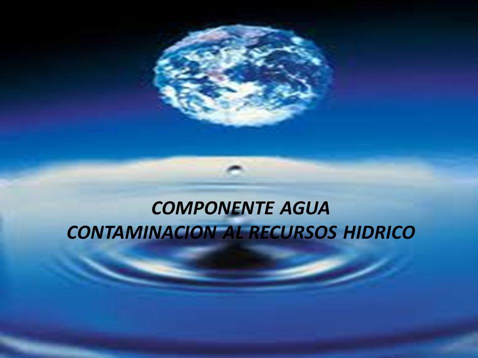 CONTAMINACION AL RECURSOS HIDRICO