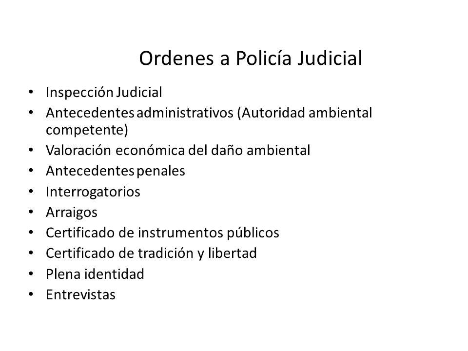 Ordenes a Policía Judicial