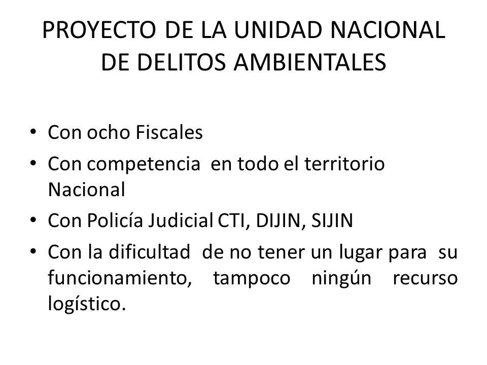 PROYECTO DE LA UNIDAD NACIONAL DE DELITOS AMBIENTALES