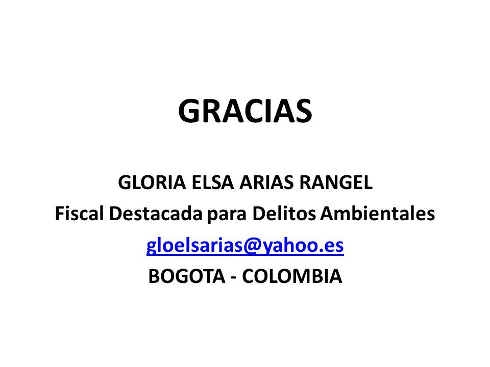 GLORIA ELSA ARIAS RANGEL Fiscal Destacada para Delitos Ambientales
