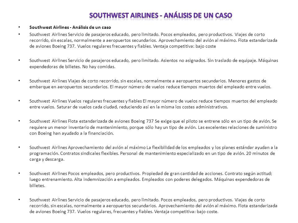 Southwest Airlines - Análisis de un caso