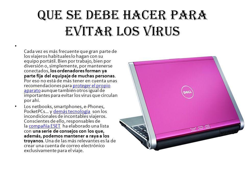 Que se debe hacer para evitar los virus