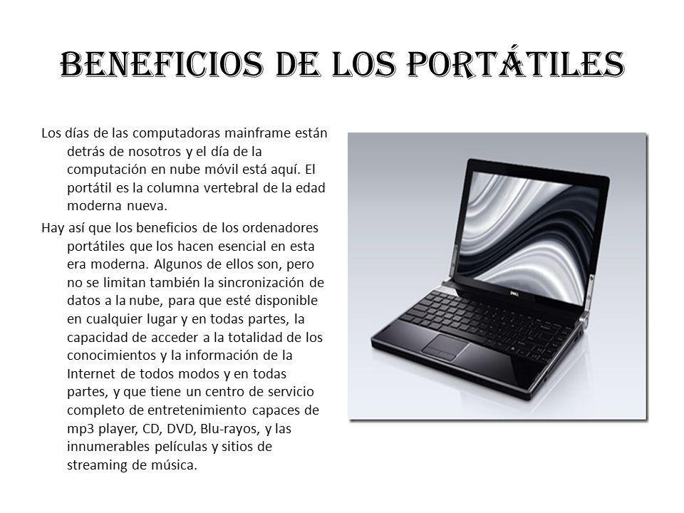 Beneficios de los portátiles