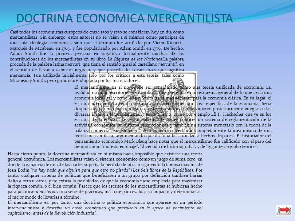 DOCTRINA ECONOMICA MERCANTILISTA