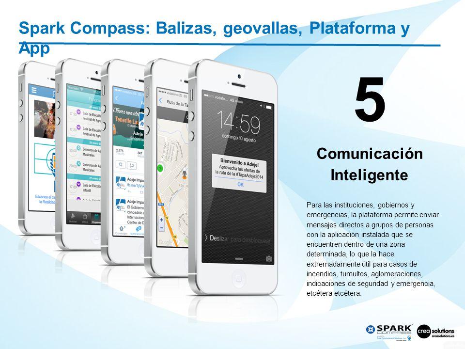 6 Spark Compass: Balizas, geovallas, Plataforma y App Big Data