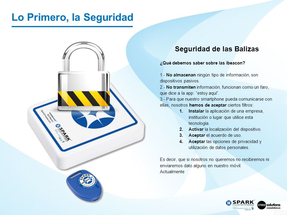 Lo Primero, la Seguridad
